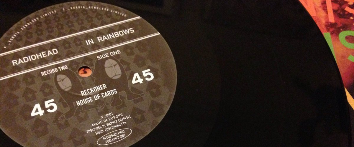Radiohead In Rainbows 45 record