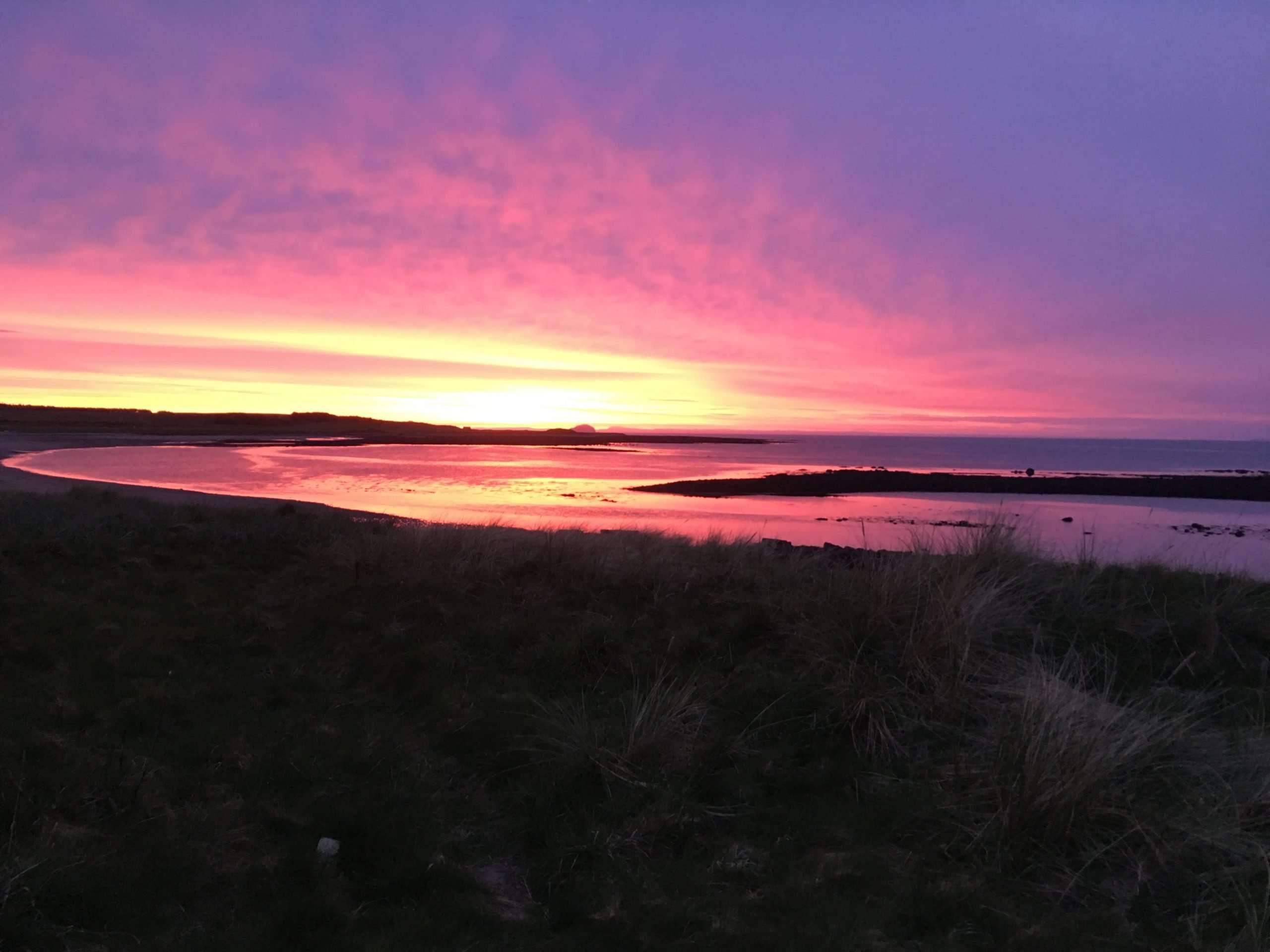 Sunset at the beach near Dunbar